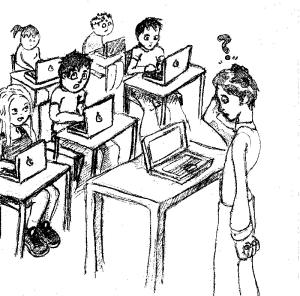 Teacher and 1:1 computing class